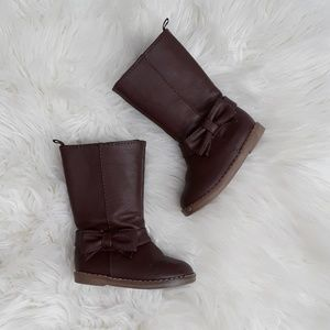 Gap baby girl brown bow boots size 6